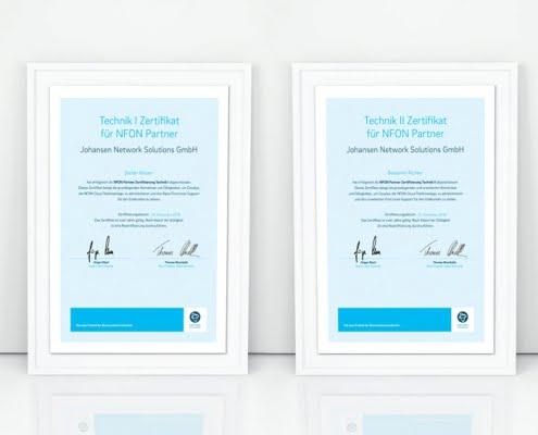NFON Technik Zertifikat
